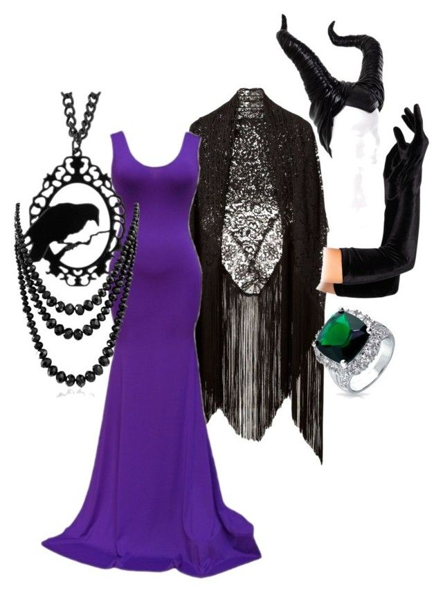 """DIY Disney Villain Costume - Maleficent"" by thegorgeousmistake on Polyvore featuring Martha Medeiros, claire's and Bling Jewelry"