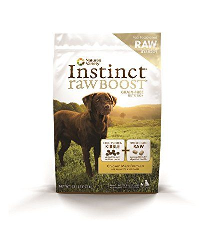 Instinct Raw Boost Grain-Free Chicken Meal Formula Dry Dog Food by Nature's Variety, 23.5-Pound Bag Nature's Variety http://smile.amazon.com/dp/B007OT50VY/ref=cm_sw_r_pi_dp_VSX0ub1QSZ4MF