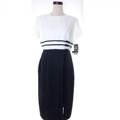 34.00$  Buy here - http://vilcn.justgood.pw/vig/item.php?t=c6h7lwg58618 - Black and White Dress Petite 14P Incite Business Formal Dress 34.00$