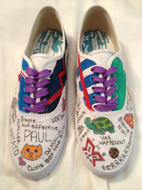 One Direction Custommade Shoes by TurtleyEnough on Etsy, $26.99