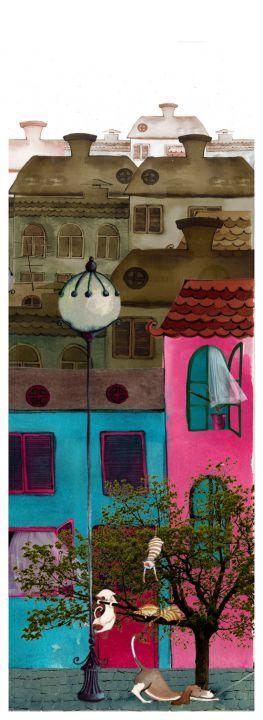 Utcarészlet cicákkal by http://www.breslo.hu/RebekkaIvacson/shop