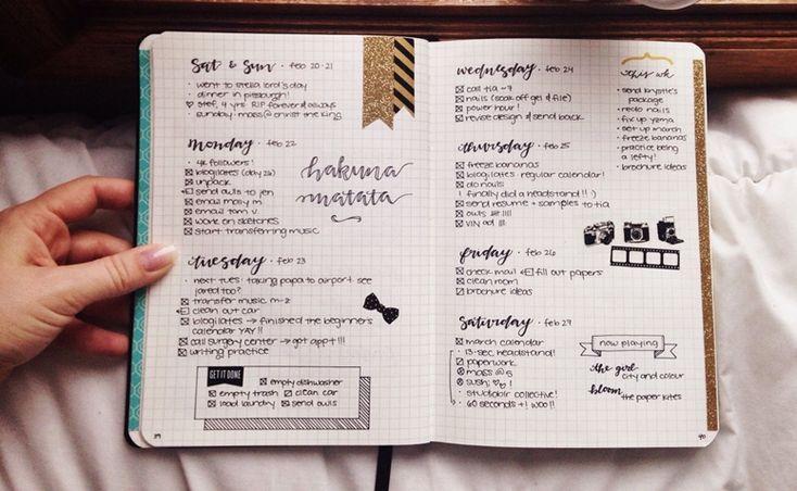 Este método análogo de organização tem como função reunir em um só lugar vários como lembretes , planejamentos, tarefas diárias e compromissos futuros.