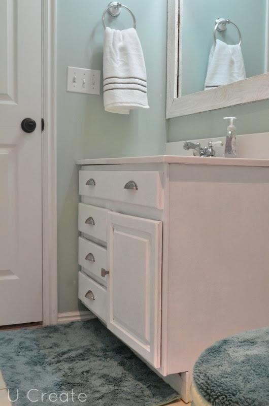 Bathroom Makeover App walls - sw 6211 rainwashedsherwin- williams, cabinets - sw