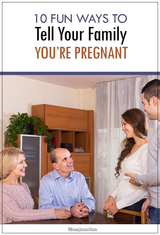 Top 10 Fun Ways To Tell Your Family You're Pregnant ...