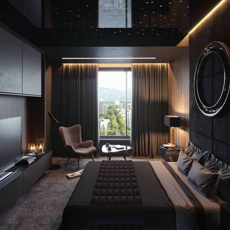 Дизайн спальни для мужчины фото