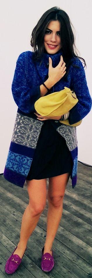 #mbfwi Day 5 by Maritsa         EMPORIO ARMANI AW13 coat / hırka-kaban – yeni sezon  GUCCI SS13 Horsebit loafers /ayakkabılar  ZARA clutch / çanta  NAZRA JEWELS blue &  grey bracelets- AW13 / mavi ve gri bileklik – yeni sezon