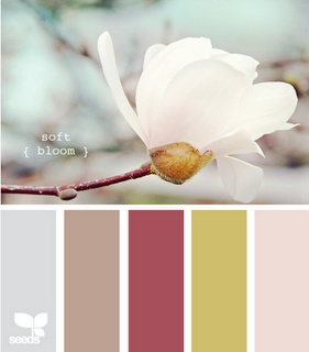 Spring color inspiration - such a pretty house palette