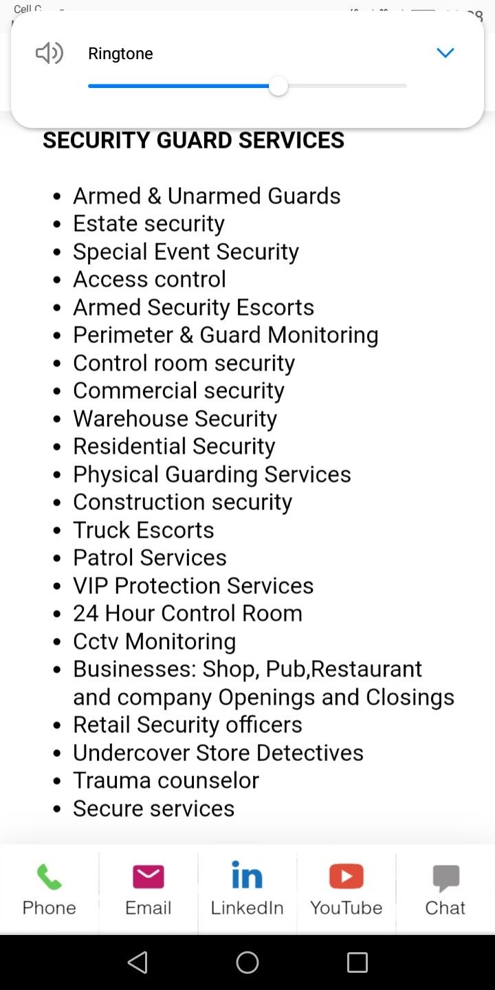 Mtshoko Security Event Security Security Guard Services Residential Security