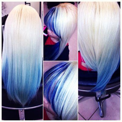 Pleasant 1000 Images About Blue Hair Inspiration On Pinterest Blue Hair Short Hairstyles Gunalazisus