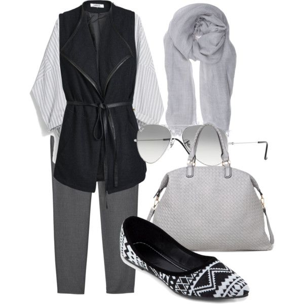 A fashion look from January 2015 featuring MANGO blouses, ONLY vests and Monki pants. Browse and shop related looks.