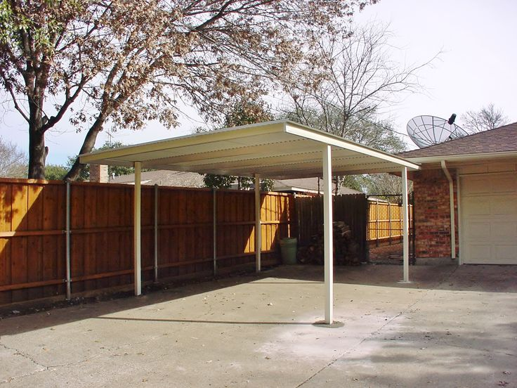25 best free standing carport ideas on pinterest for Single slope carport