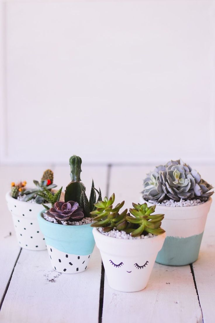 These are the cutest planters. I need to make some for my Cactus!!!