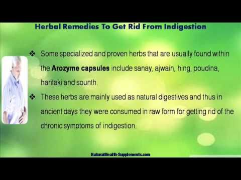 This video describes about how to get rid from indigestion problem with herbal remedies. You can find more detail about Arozyme capsules at http://www.naturalhealth-supplements.com