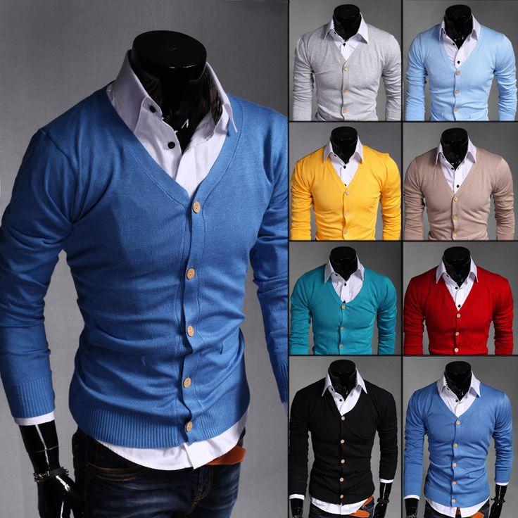 Frete grátis 2015 hot venda de desgaste confortável camisola de moda slim fit camisola tamanho asiático M XXL 8 cores UW302 em Cardigãs de Roupas e Acessórios - Masculino no AliExpress.com | Alibaba Group