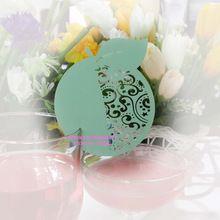 Тиффани синий лазерная резка красивая apple , бокал карты место карты, лазерной резки бумажный стаканчик карты, бокал карты свадебные ну вечеринку(China (Mainland))