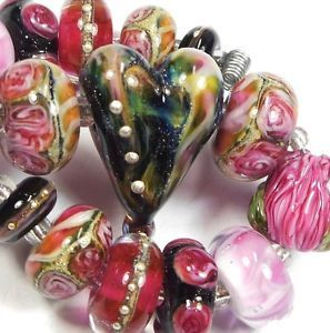 Quinlan Glass The Romantics Handmade Lampwork Glass Beads