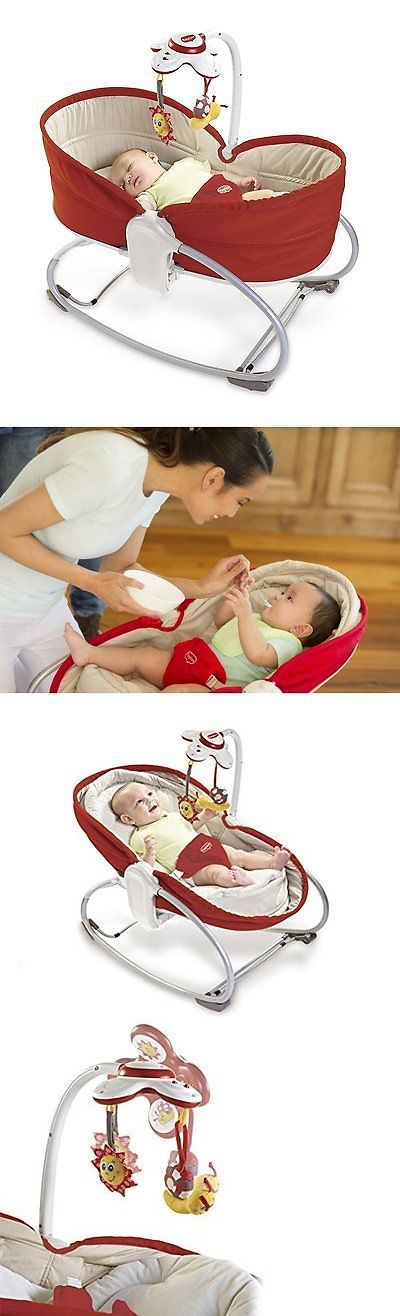 Bouncers and Vibrating Chairs 117034: Tiny Love 00517-003 Convertible Seat To Napper 3 In 1 Baby Rocker Napper Red New -> BUY IT NOW ONLY: $99.99 on eBay!