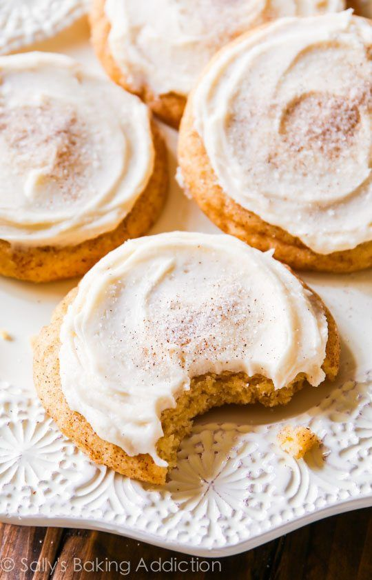 Sally's Baking Addiction Chai Spice Snickerdoodle Cookies - These frosted chai spice snickerdoodles are a chai tea latte in cookie form!