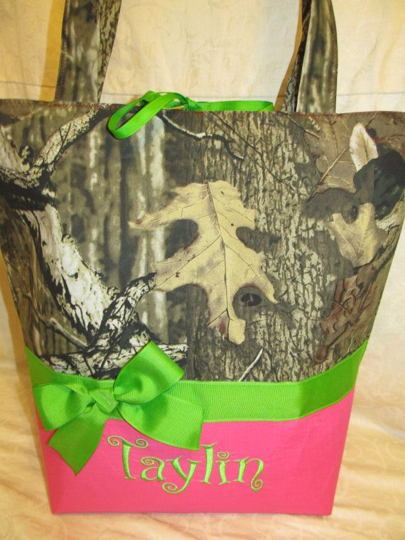 Handmade mossy oak camo camouflage hot pink and by creativesewing2, $49.99