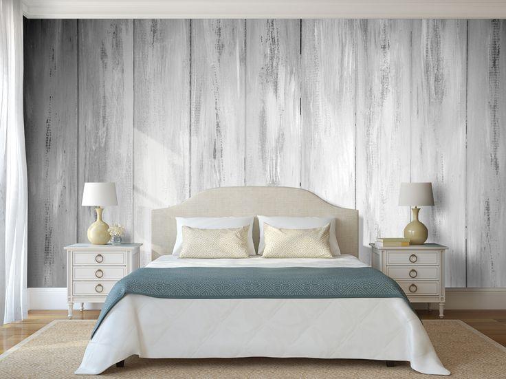 Drewno na ścianie - fototapeta z takim wzorem to świetny zamiennik! #drewno #fototapeta #bedroom #sypialnia #mural #mural24pl
