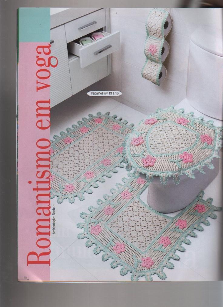Conjunto de Banheiro em Barbante