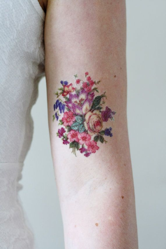 Vintage floral tattoo the image kid has it for Vintage floral tattoo