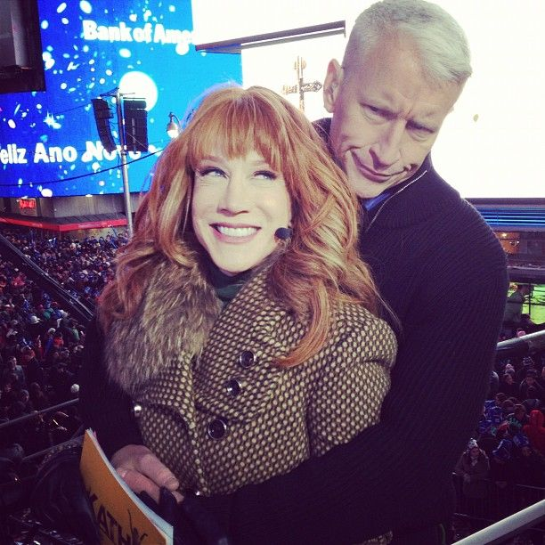 Kathy Griffin and Anderson Cooper got cozy while hosting the New ...