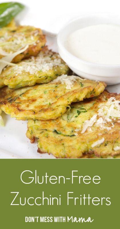 Gluten Free Zucchini Fritters (Pancakes)