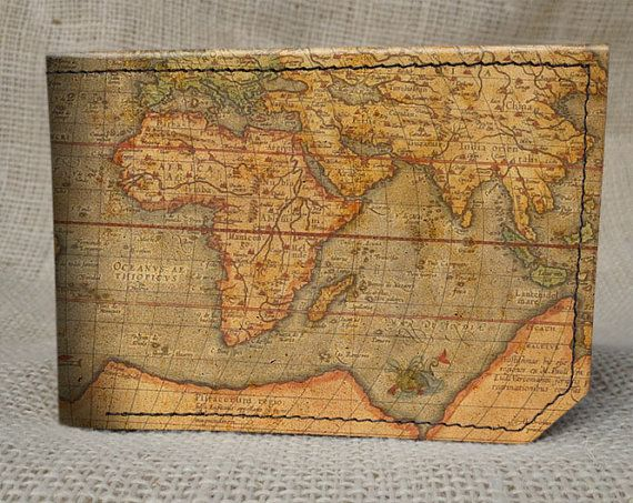 Men's attire: #accessories  Leather map wallet (strictly casual) by BackertonSpectrum, $42.00