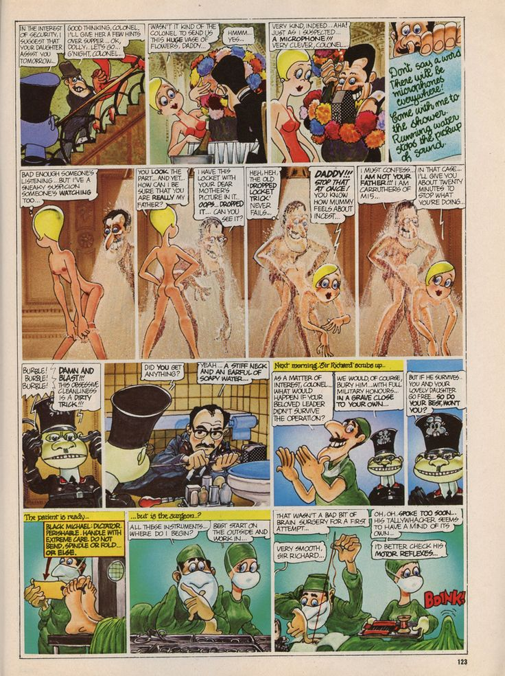 Erotic strip cartoons