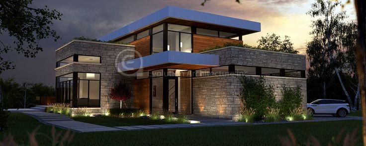 Evolution Architecture,maison contemporaine,création de plan exclusif E-804