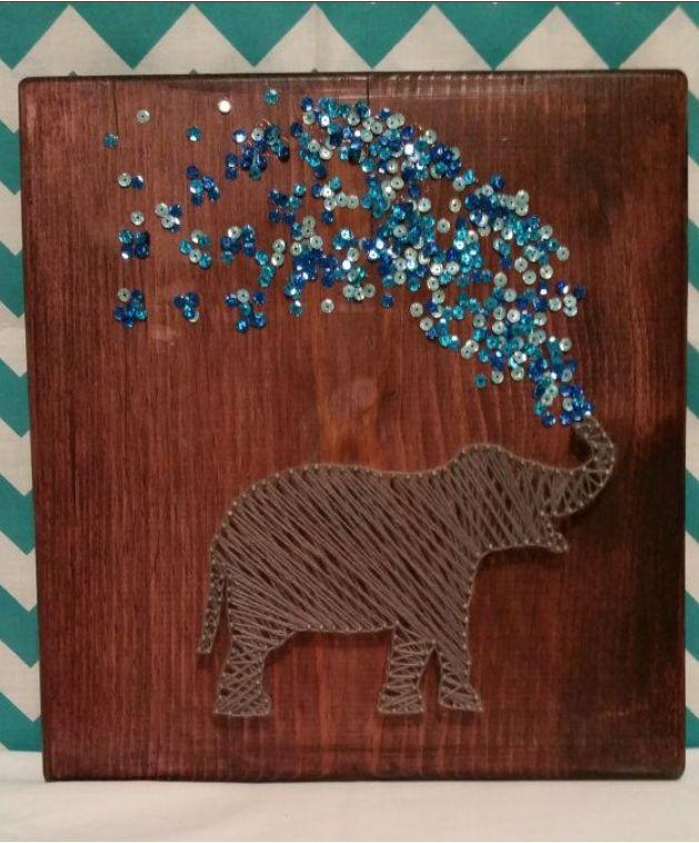 Amanda takes on EVERYTHING!: String Art #1: The Elephant