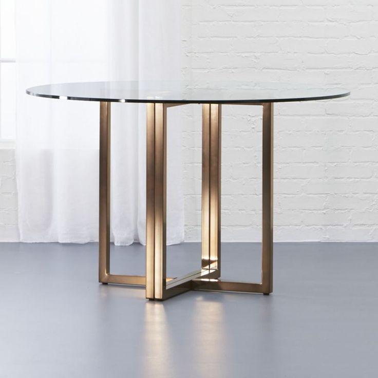 17 Best Ideas About Glass Round Dining Table On Pinterest