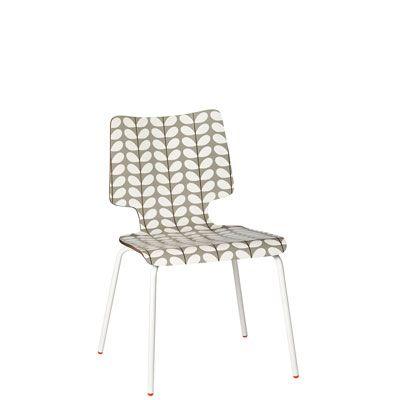 Orla Kiely Stem Stacking Chair - Pebble