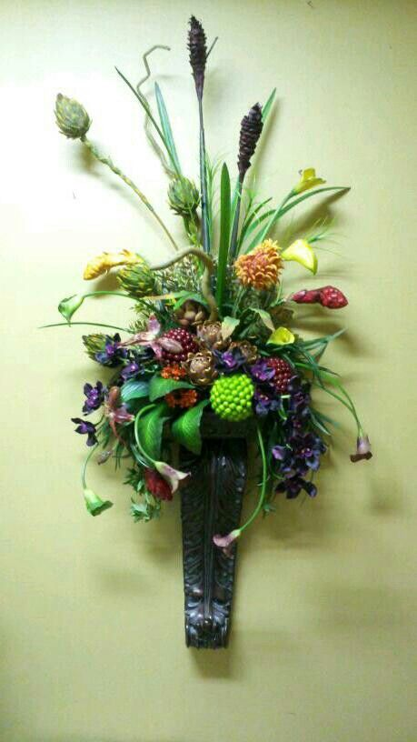 21 best The Timeless...Petal images on Pinterest | Flower ... on Wall Sconce Floral Arrangements Arrangement id=75967