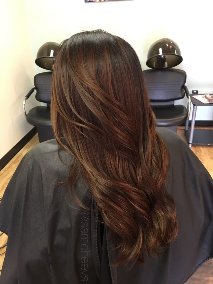 Rich Chocolate Brown Hair With Highlights For Dark Hair