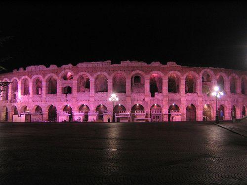 Verona: l'Arena Illuminata di Rosa per la Campagna Nastro Rosa 2013 #NewsGC @GardaConcierge