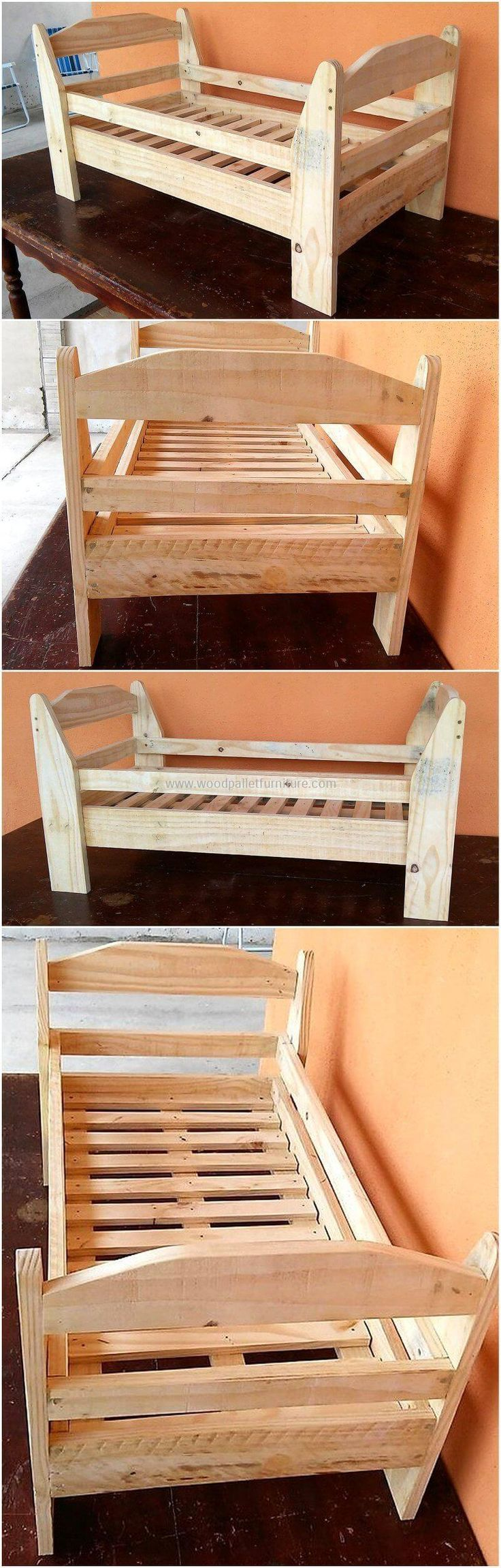 Let's welcome your newborn into this world in a delightful manner by crafting an awesome wooden bed for him. This wooden made bed is entirely crafted with the help of reused wooden pallets that are easily available everywhere. This wooden pallets bed is equally best to construct for your little kids.