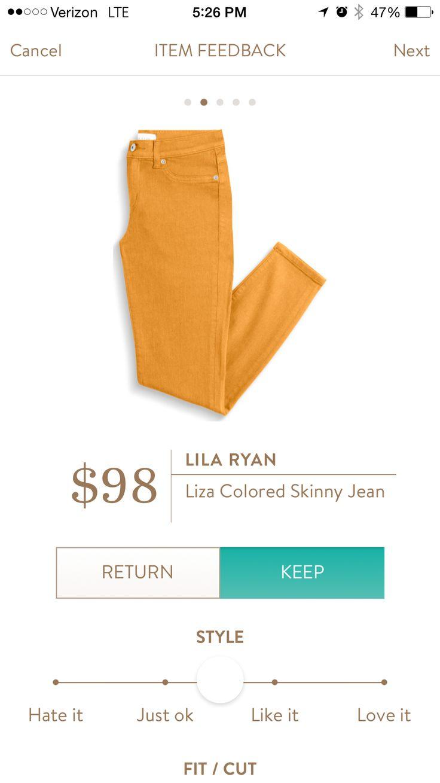Lila Ryan Liza Colored Skinny Jeans August, 2016 Fix