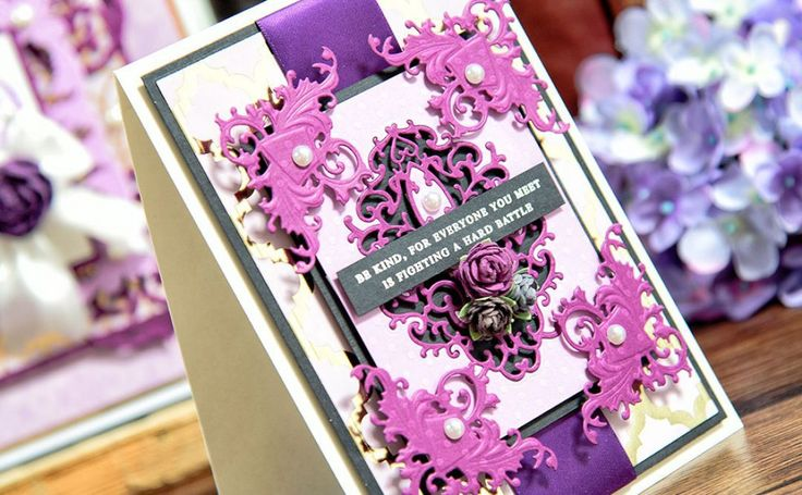 Be Kind Card Tutorial with Rebel Rose Collection by Stacey Caron