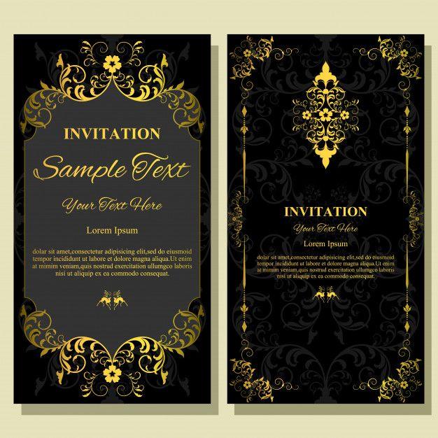 Wedding Invitation Card Template Wedding Invitation Cards Wedding Invitations Invitations