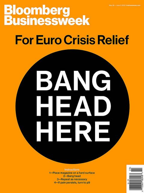 magCulture, blog about magazines: Bloomberg Businessweek, Magazines Design, Graphics Design, Covers Design, Editorial Design, Magazines Covers, Bangs Head, Euro Crisis, Bloombergbusinessweek