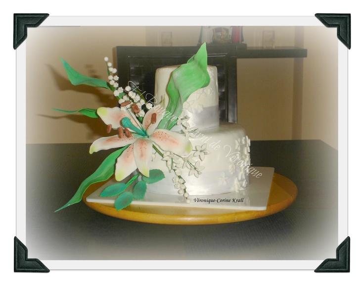 El bouquet garni de Véronique: Tarta fondant bouquet de flores y bizcocho de chocolate Whimsical Bakehouse