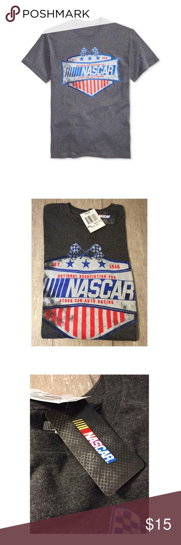 Official Men's NASCAR Graphic Print T-Shirt Checkered Flag Sports Men's OFFICIAL NASCAR Graphic-Print T-Shirt.  50% Cotton, 50% Poly NASCAR Shirts Tees - Short Sleeve