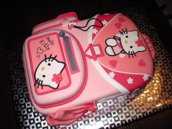 School Bag Hello Kitty Cake Lexis Bday In 2018 Pinterest And