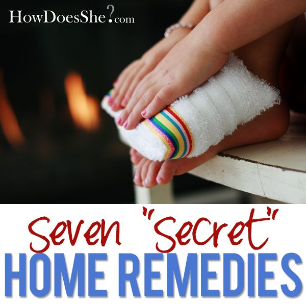 """7 """"Secret"""" Home Remedies...some of the best I've ever heard of for all members of the family! #home #remedies from howdoesshe.com"""