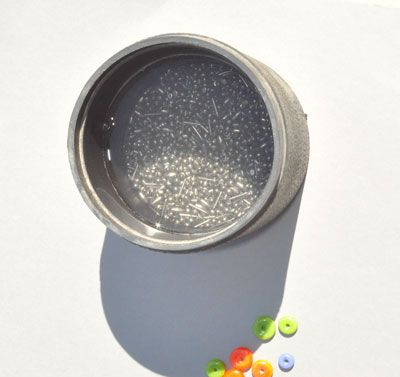 hands free bead release cleaning with steel shot twisted wire and a tumbler by
