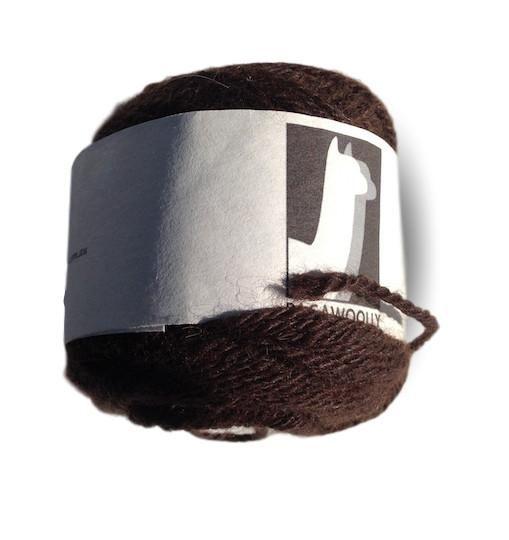 Pacawoolly Tahrua, 100% Australian Alpaca, 8 ply, 50g, dark brown - I Wool Knit - 1