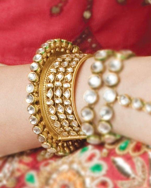 kundan stone bangles