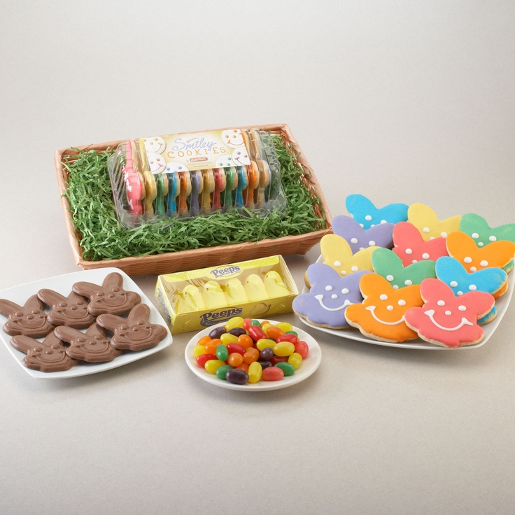 Fun way to package easter cookies for shipping